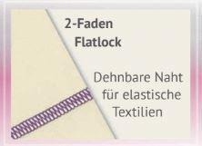 2 Faden Flatlock babylock