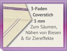 3 Faden Coverstich 3mm babylock