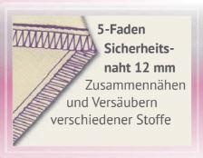 5 Faden Sicherheitsnaht 12mm
