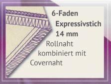 6 Faden Expressivstich 14mm baby lock Gloria