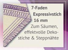 7 Faden Expressivstich 16mm baby lock Gloria